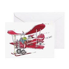 Santa Biplane Greeting Cards (Pk of 20)