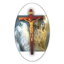 Crucifix/Pieta Oval Decal