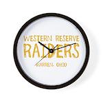 Western Reserve Raiders Wall Clock