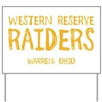 Western Reserve Raiders Yard Sign