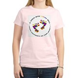Footprints on your heart circ Tee-Shirt