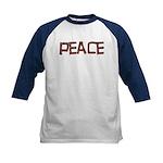 Anti-war Peace Letters Kids Baseball Jersey