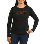 Anti-war Peace Letters Women's Long Sleeve Dark T-
