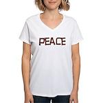 Anti-war Peace Letters Women's V-Neck T-Shirt