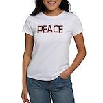 Anti-war Peace Letters Women's T-Shirt