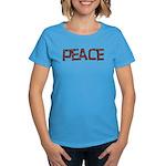 Anti-war Peace Letters Women's Dark T-Shirt