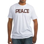 Anti-war Peace Letters Fitted T-Shirt