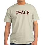 Anti-war Peace Letters Light T-Shirt