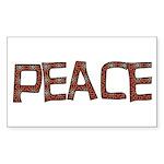Anti-war Peace Letters Rectangle Sticker