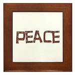 Anti-war Peace Letters Framed Tile