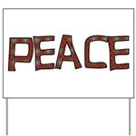 Anti-war Peace Letters Yard Sign
