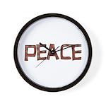 Anti-war Peace Letters Wall Clock