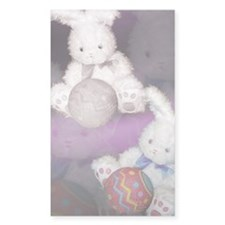 "Ostara ""Easter"" Bunny w/ Ball Sticker (Rectangular"