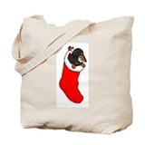 BT Dachshund Stocking Tote Bag