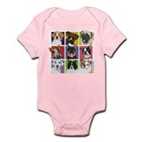 Multi Breed Squares Infant Bodysuit