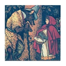 Crane's Red Riding Hood Tile Coaster