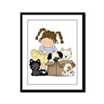Puppy Dog Friends Framed Panel Print