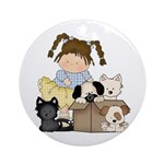 Puppy Dog Friends Ornament (Round)