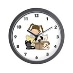 Puppy Dog Friends Wall Clock