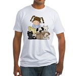 Puppy Dog Friends Fitted T-Shirt