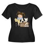 Puppy Dog Friends Women's Plus Size Scoop Neck Dar