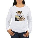Puppy Dog Friends Women's Long Sleeve T-Shirt