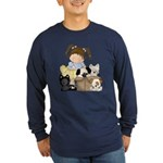 Puppy Dog Friends Long Sleeve Dark T-Shirt