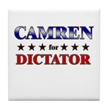 CAMREN for dictator Tile Coaster