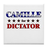 CAMILLE for dictator Tile Coaster