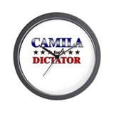 CAMILA for dictator Wall Clock