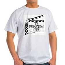 TV Production Geek Ash Grey T-Shirt