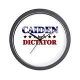 CAIDEN for dictator Wall Clock