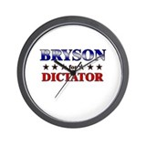 BRYSON for dictator Wall Clock
