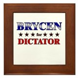 BRYCEN for dictator Framed Tile