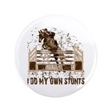 "Hunter, Jumper Horse Stunts 3.5"" Button"