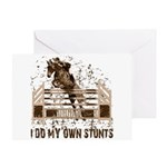 Hunter, Jumper Horse Stunts Greeting Card