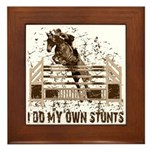 Hunter, Jumper Horse Stunts Framed Tile