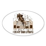 Hunter, Jumper Horse Stunts Oval Sticker