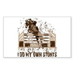 Hunter, Jumper Horse Stunts Rectangle Sticker
