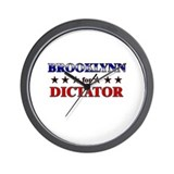 BROOKLYNN for dictator Wall Clock