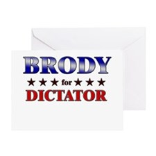 BRODY for dictator Greeting Card