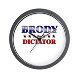 BRODY for dictator Wall Clock