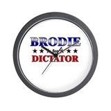 BRODIE for dictator Wall Clock