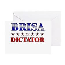 BRISA for dictator Greeting Card