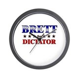 BRETT for dictator Wall Clock