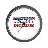 BRENDON for dictator Wall Clock