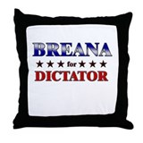 BREANA for dictator Throw Pillow