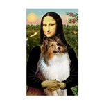 Mona's Sable Sheltie Sticker (Rectangle)