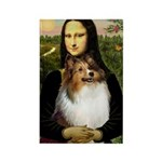 Mona's Sable Sheltie Rectangle Magnet (10 pack)