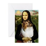 Mona's Sable Sheltie Greeting Cards (Pk of 10)